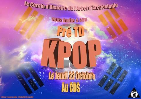 affiche Pré-TD K-pop
